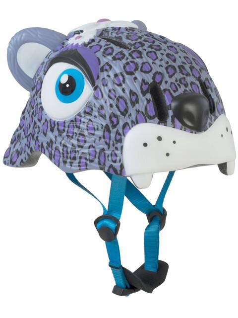 Crazy Safety Leopard Cykelhjälm Barn violett/vit
